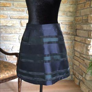 Navy Festive Skirt